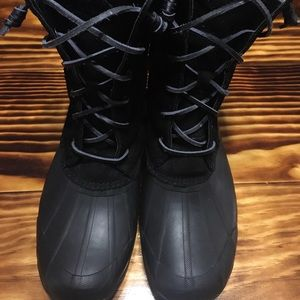 Black Sperry Boots